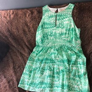 ModCloth green spring swing dress